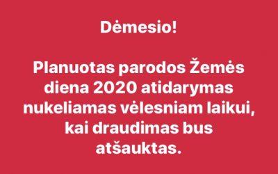 Žemės diena 2020 nukeliama